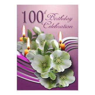 100th Birthday Party Invitation 13 Cm X 18 Cm Invitation Card