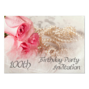 100th birthday invitation