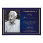 100th Birthday Party Invitations with photo 13 Cm X 18 Cm Invitation Card