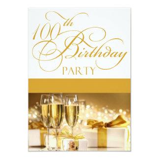 "100th Birthday Party Personalized Invitation 5"" X 7"" Invitation Card"