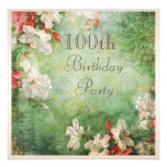 100th Birthday Party Shabby Chic Hibiscus Flowers