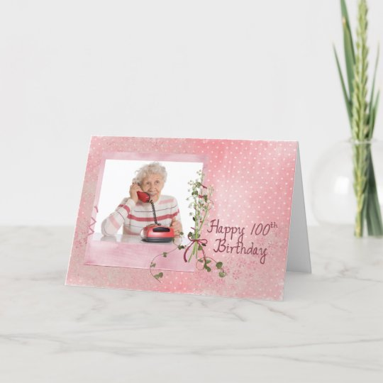 100th Birthday Photo Card