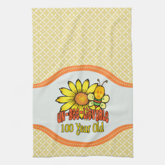 100th Birthday - Unbelievable at 100 Years Old Tea Towel