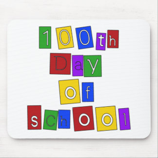 100th Day of School Block Letters Mouse Pad