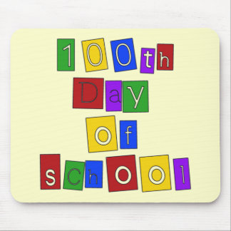 100th Day of School Block Letters Mouse Pads