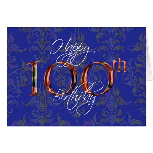 100th happy birthday greeting cards