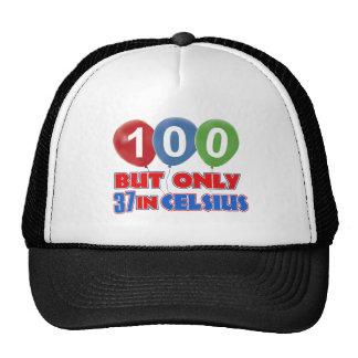 100th year birthday designs hat