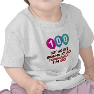 100th year birthday designs tee shirt