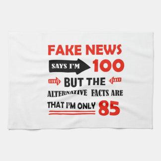 100th year old birthday gifts tea towel
