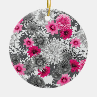 101 pink and grey photographic aop round ceramic decoration