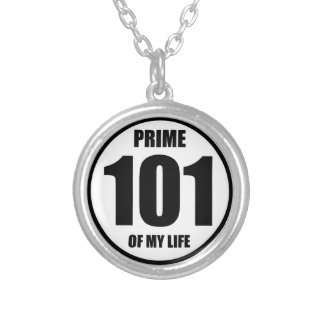 101 - prime of my life silver plated necklace
