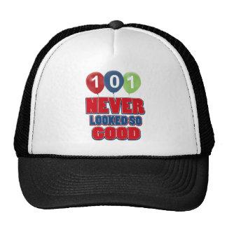 101 year old birthday designs cap