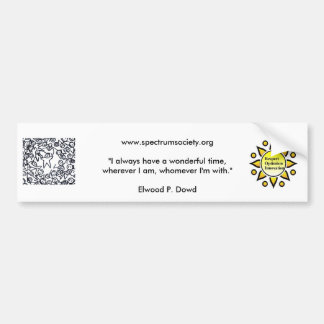 101FriendsCard2, sunlogo, www.spectrumsociety.o... Bumper Sticker