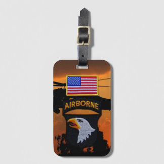 101st ABN Airborne Division Screaming Eagles Vets Luggage Tag
