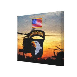 101st ABN airborne screaming eagles veterans vets Canvas Print