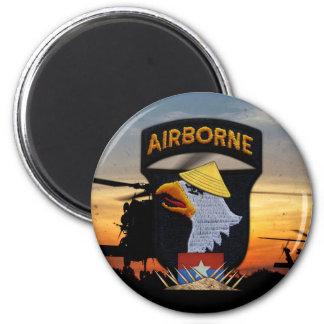 101st ABN Airborne Screaming Eagles Vietnam War 6 Cm Round Magnet