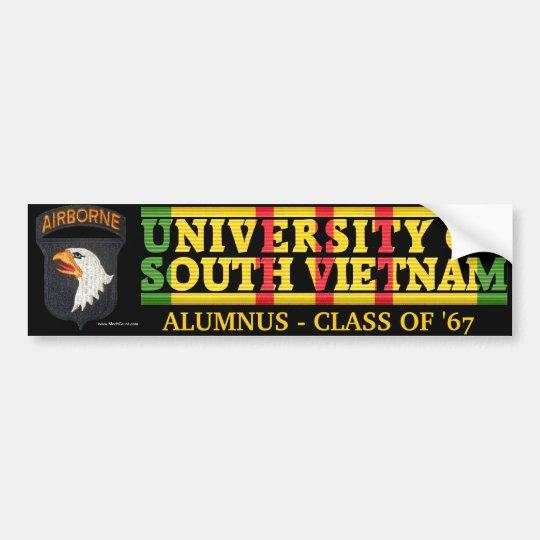 101st Abne Div U of South Vietnam Alumnus Sticker Bumper Sticker