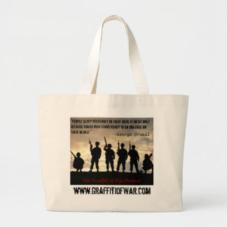 101st Airborne 320th F/A_BatteryB Large Tote Bag