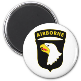 101st Airborne Div Combat Service Badge 6 Cm Round Magnet