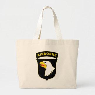 101st Airborne Div Combat Service Badge Jumbo Tote Bag