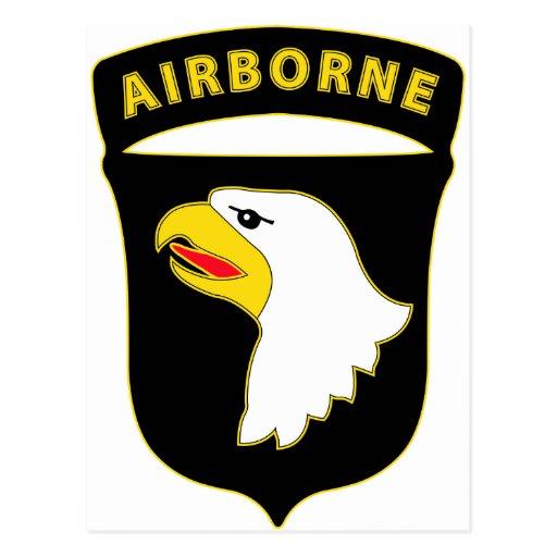 101st Airborne Div Combat Service Badge Post Card
