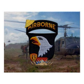 101st Airborne Division Nam Patch Poster