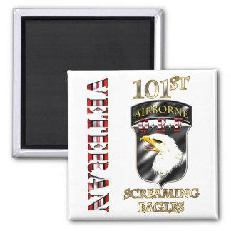 101st Airborne Division OEF Veteran Square Magnet