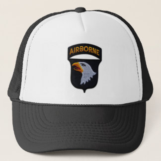 101st airborne division patch trucker hat