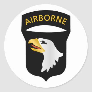 101st Airborne Division Round Sticker