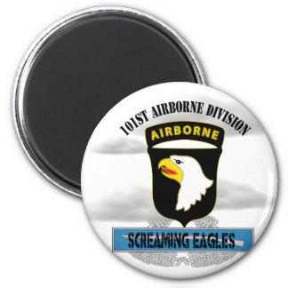 "101st Airborne Division ""Screaming Eagles"" 6 Cm Round Magnet"