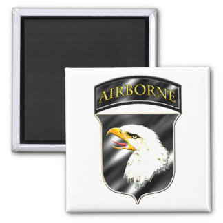 101st Airborne Division Square Magnet