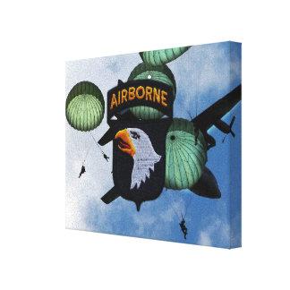 101st airborne division veterans vets canvas print