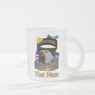 101st airborne division veterans vietnam frosty Mu 10 Oz Frosted Glass Coffee Mug