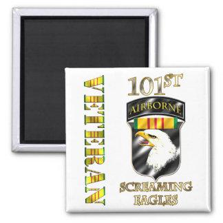 101st Airborne Division Vietnam Veteran Square Magnet