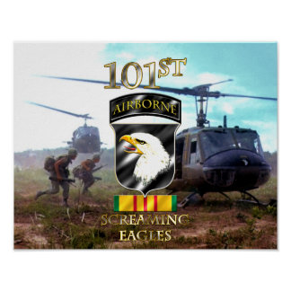 101st Airborne Division Vietnam Veteran v2 Poster