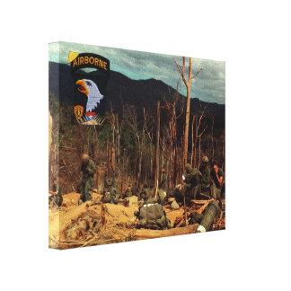 101st airborne division vietnam war canvas print