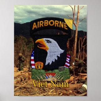 101st Airborne Division Vietnam War Patch Print