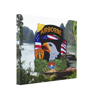 101st airborne division vietnam war veterans vets stretched canvas prints