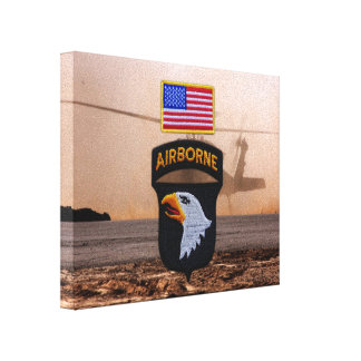 101st airborne fort campbell veterans vets canvas print