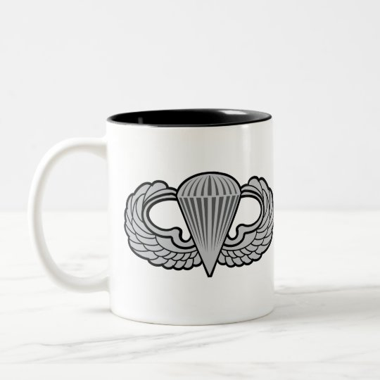 101st Airborne Patch with Jump Wings Two-Tone Coffee Mug