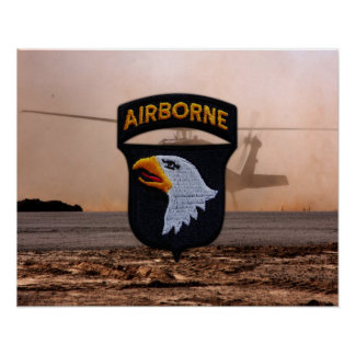 101st Airborne Screaming Eagles Patch Poster