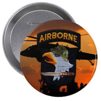 101st airborne screaming eagles veterans vets 10 cm round badge