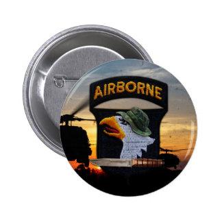 101st airborne screaming eagles veterans vets 6 cm round badge