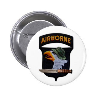 101st airborne screaming eagles veterans vets 6 cm round badge