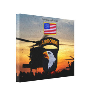 101st airborne screaming eagles veterans vets gallery wrap canvas