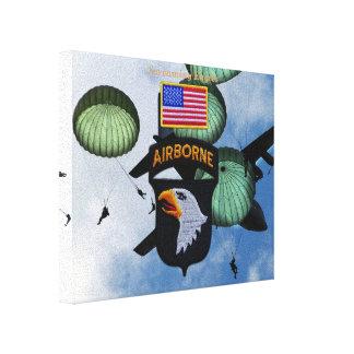 101st airborne screaming eagles veterans vets canvas prints