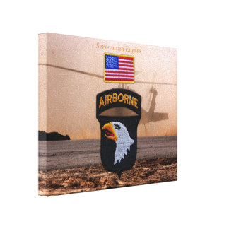 101st airborne screaming eagles veterans vets gallery wrapped canvas