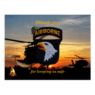 101st airborne screaming eagles vets patch postcard