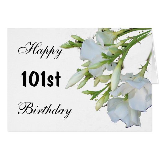 101st Birthday Card Flowers