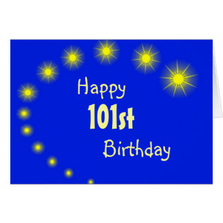 101st Birthday Card Stars